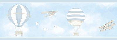 Faixa de Parede Balão Aviação Azul