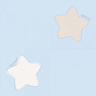 Papel de Parede Lullaby Estrela Polaris Azul 2241