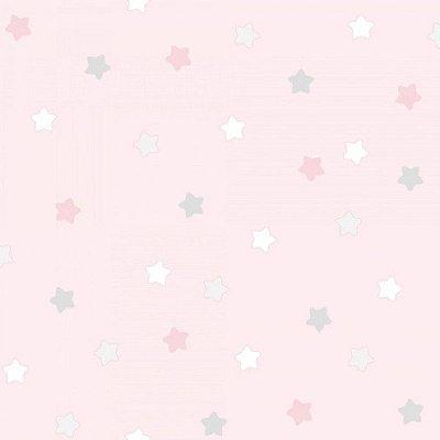 Papel de Parede Lullaby Estrela Rosa 2252