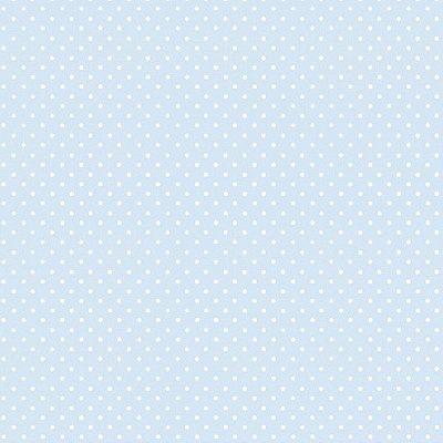 Papel de Parede Lullaby Poá Azul 2271