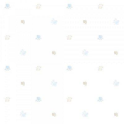 Papel de Parede  Lullaby Pegadas Azul 2281