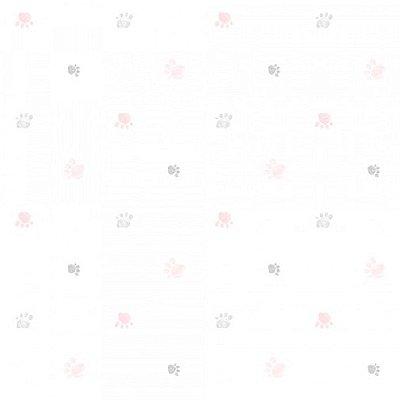 Papel de Parede  Lullaby Pegadas Rosa 2282