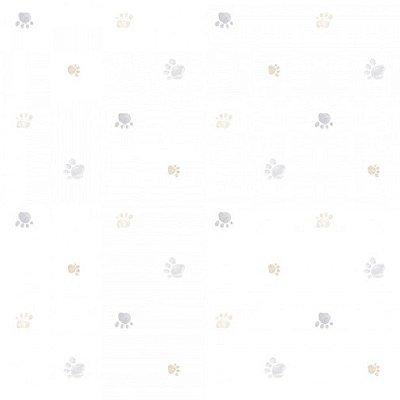 Papel de Parede Lullaby Pegadas Cinza Nude 2283