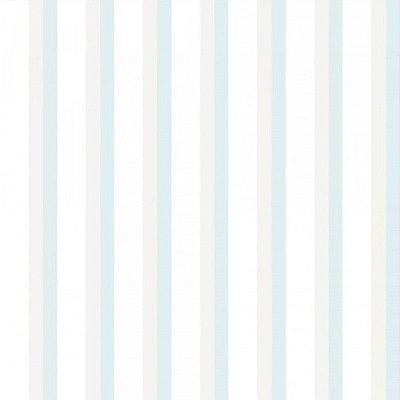 Papel de Parede Lullaby Listrado Azul Claro e Cinza 2314