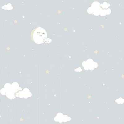 Papel de Parede Lullaby Nuvem Cinza 2213