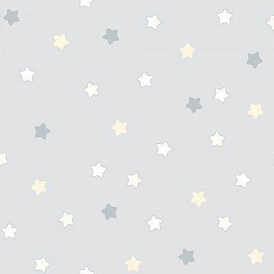 Papel de Parede Lullaby Estrela Cinza 2253