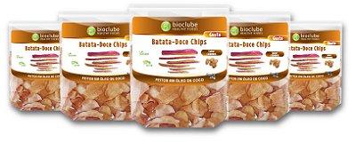 Chips de Batata-Doce Churros - kit com 5 unidades