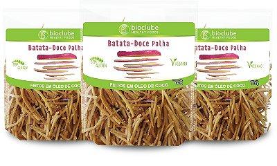 BATATA-DOCE PALHA 140GR KIT COM 3 UNIDADES