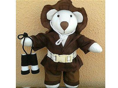 Urso para decoração - Pepito Aventureiro