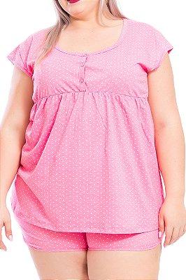 Pijama Bela Notte Rosa Plus Size