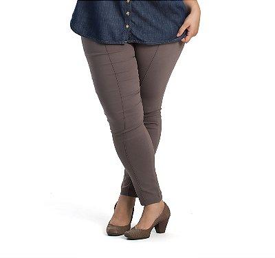 Calça Legging Bengaline Allzap Bege Plus size