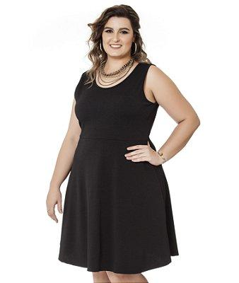 Vestido Malha Jacquard Nolita Plus Size