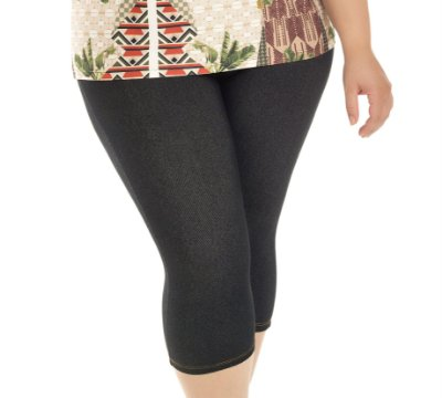 Corsário Malha Jeans Primaior Plus Size