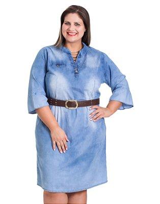 Chemise Jeans Manga Flare Stuhler Plus Size
