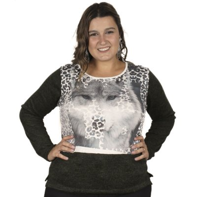 Blusa Tricot Sublimada Gracia Plus Size