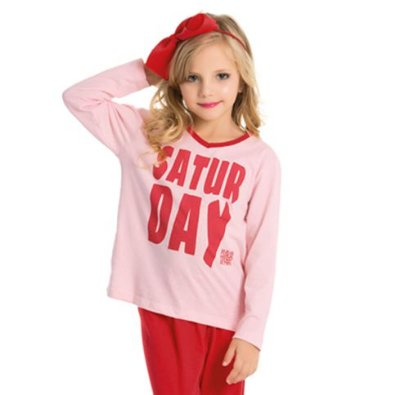 Pijama Infantil feminino Divertido Família Bela Notte