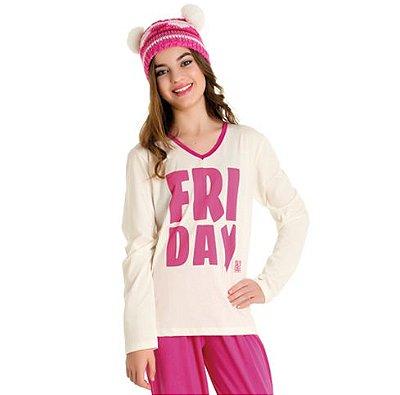 Pijama Juvenil feminino Divertido Família Bela Notte