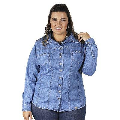 Camisete Jeans Longo Stuhler Plus Size