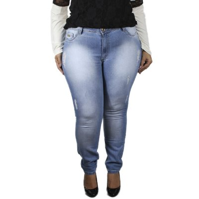 Calça Jeans By Unna Clara Plus Size