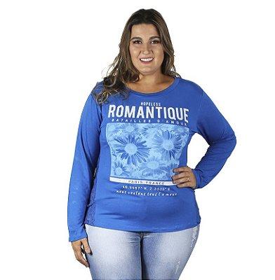 Blusa Estampada Cores Variadas Vitalite Plus Size