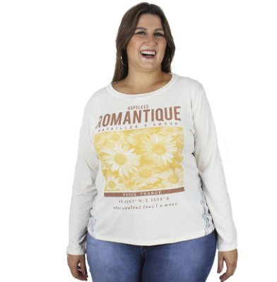 Blusa Estampada  Vitalite Plus Size