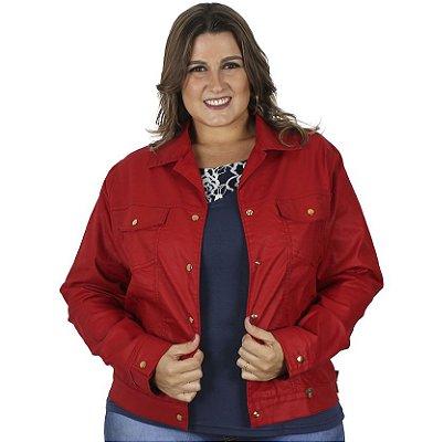 Jaqueta Stuhler Sminon Vermelha Plus Size