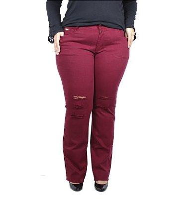Calça Jeans Vermelha Legítima Defesa Plus Size
