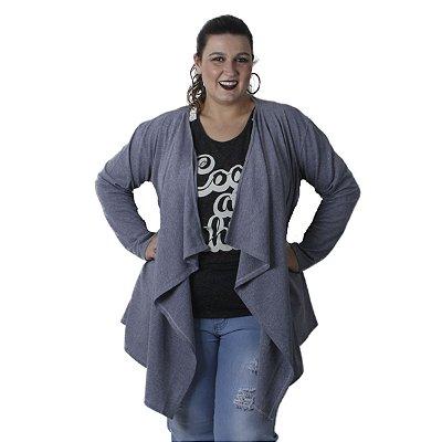 Casaco de piquet com pontas Quince Plus Size
