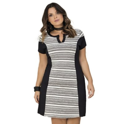 Vestido com Recorte Lisamour Plus Size