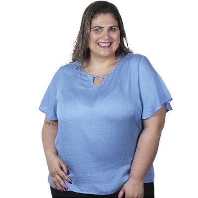 Blusa Tecido Viscose Lisamour Plus Size