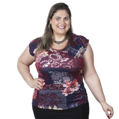 Blusa Estampa Frontal Ody Plus Size