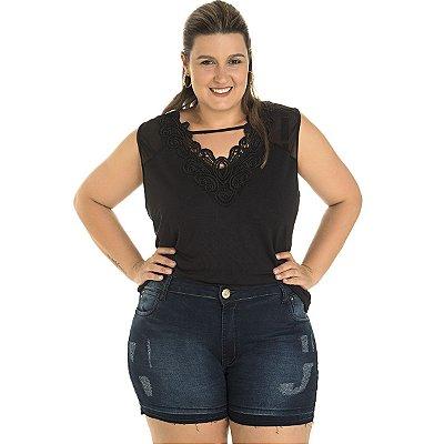 Bermuda Jeans Confort AJM Plus Size