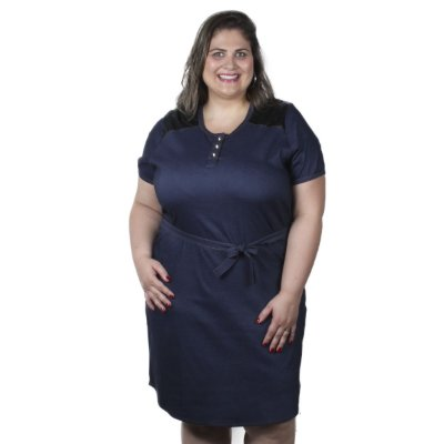 Vestido Jeans fino Assiral Plus Size