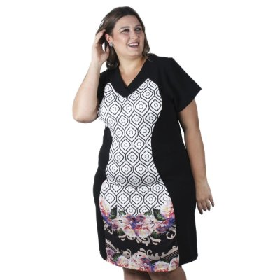 Vestido Estampado Assiral Plus Size
