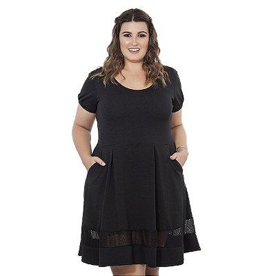 Vestido Jacquard com Bolso Nolita Plus Size