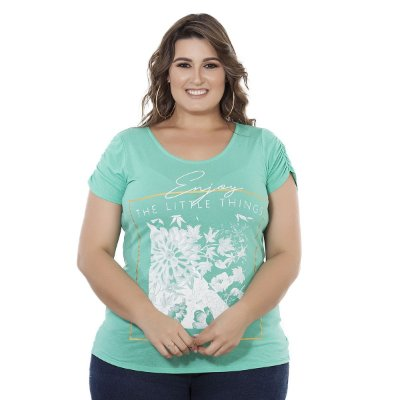 Blusa Estampa Frontal Nolita Plus Size
