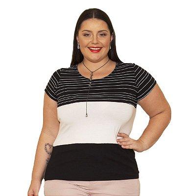 Blusa Viscolycra com listras Berthage Plus Size
