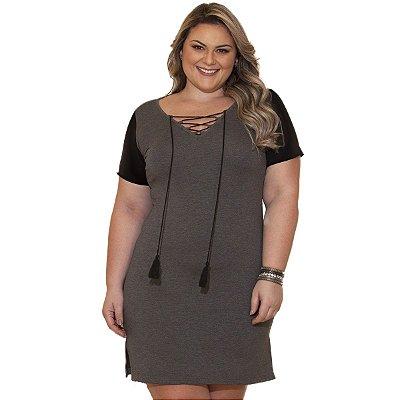 Vestido Viscolycra com Cirre Berthage Plus Size