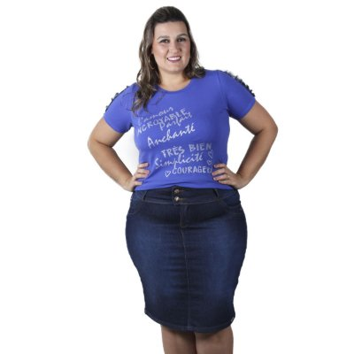 Saia Jeans THB Plus size