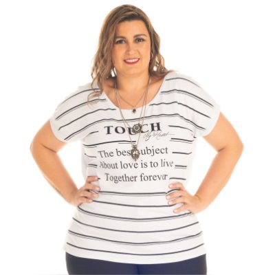 Blusa Viscolycra com Estampa Rovitex Plus Size