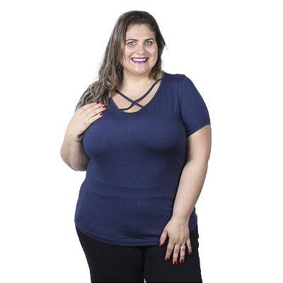 Blusa Viscolycra com Detalhe no Decote Vitalite Plus Size