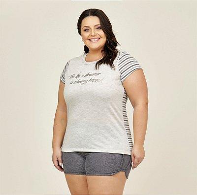 Pijama T-shirt Danka Plus Size