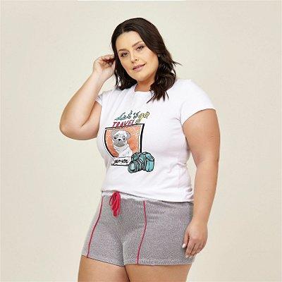 Pijama T-shirt Estamap Pug Danka Plus Size