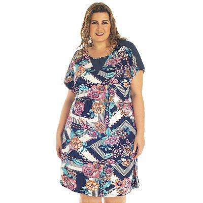 Vestido Viscolycra Estampado Plus size