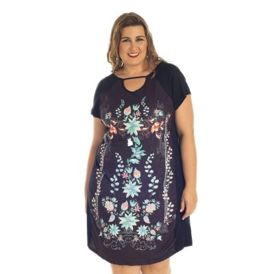 Vestido Estampado Rovitex Secrets Plus Size