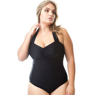 Maio Swimsuit Alice Preto Acqua Rosa Plus Size