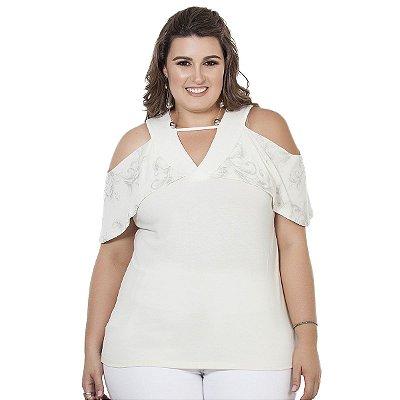 Blusa Branca Nolita Plus Size