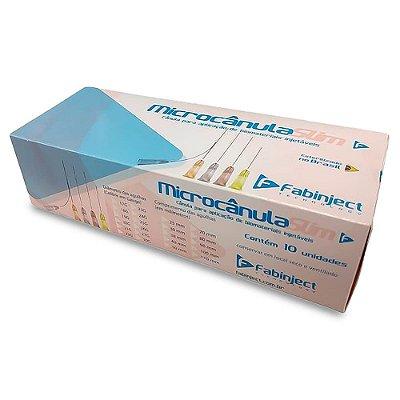Microcânula Slim 30G X 25mm Fabinject Caixa Com 10 Unidades