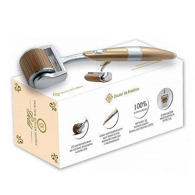 Derma Roller System Gold 192 Micro Agulhas Doutor da Estética 1.00mm 0.7