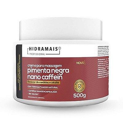 Creme De Massagem Pimenta Negra Nano Caffein Redutor De Medidas E Celulite Hidramais